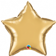 "Gold Chrome Foil Balloon (20"" Star) 1pc"